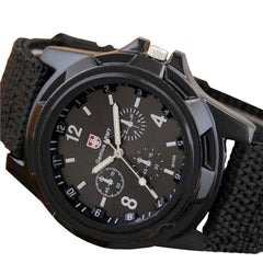 Mens Canvas Belt Luminous Wrist Watch - BoardwalkBuy - 1