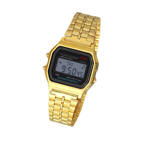 Metal Band Electronic Watch - BoardwalkBuy - 1