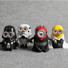 4pcs/set: Minion Star Wars  Action Figures Toys - BoardwalkBuy - 2