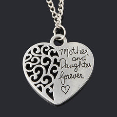 Mom and Daughter Love Piercing Heart Necklace - BoardwalkBuy - 2
