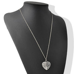 Mom and Daughter Love Piercing Heart Necklace - BoardwalkBuy - 3