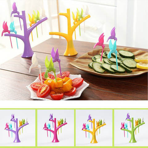 Multi Function Tree Shape Flying Bird Forks Holder - BoardwalkBuy - 1