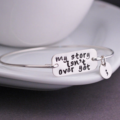 SEMICOLON BANGLE - BoardwalkBuy - 1