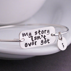 SEMICOLON BANGLE - BoardwalkBuy - 2