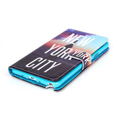 New York Stand Leather Case For Samsung note4 - BoardwalkBuy - 2