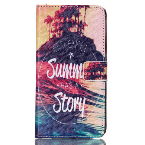 Story Stand Leather Case For Samsung note4 - BoardwalkBuy - 1