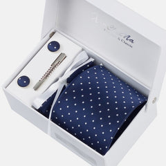 Premium Accessories Gift Box with Tie, Cuff Links, Hankie & Tie Clip - BoardwalkBuy - 9