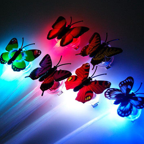 Flash led braid women's butterfly Hairpin decorations - BoardwalkBuy - 1