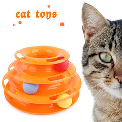 Cat Three Layers Tower Of Tracks Intelligence Toys