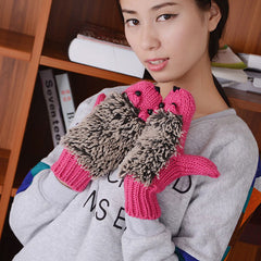 Funny cartoon hedgehog beautiful knitted gloves - BoardwalkBuy - 6
