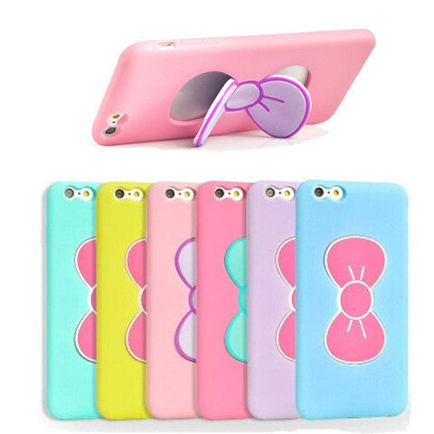 Bowknot Stand Tpu Case For Iphone 6 Plus