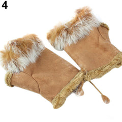Rabbit Fur leather ladies finger gloves - BoardwalkBuy - 5