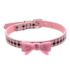 PU Leather Cat  Plaid Collar - BoardwalkBuy - 1