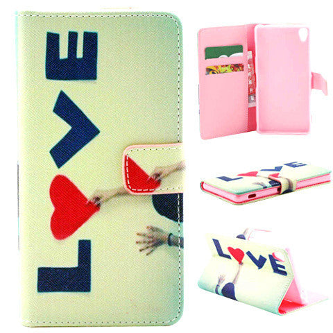 Love Stand Leather Case for Sony Xperia Z3 - BoardwalkBuy - 1