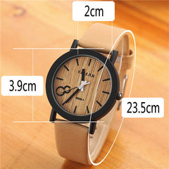 Wood PU Leather Neutral Watches - BoardwalkBuy - 11