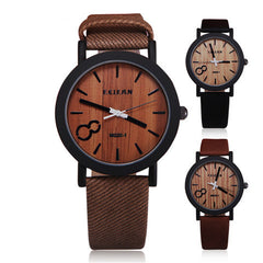 Wood PU Leather Neutral Watches - BoardwalkBuy - 1