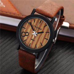 Wood PU Leather Neutral Watches - BoardwalkBuy - 3