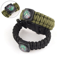 Outdoor 5 in 1 Survival Rescue Bracelet Rope with Compass - BoardwalkBuy - 1