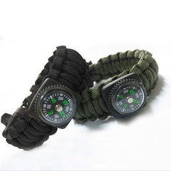 Outdoor 5 in 1 Survival Rescue Bracelet Rope with Compass - BoardwalkBuy - 2