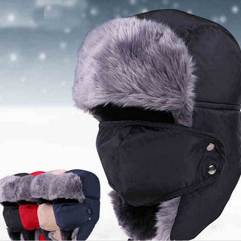 Outdoor Windproof Thick Warm Winter Snow Cap