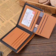 PU Leather Short Style Men Wallets - BoardwalkBuy - 3