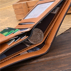 PU Leather Short Style Men Wallets - BoardwalkBuy - 13