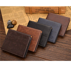 PU Leather Short Style Men Wallets - BoardwalkBuy - 1
