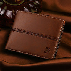 PU Leather Short Style Men Wallets - BoardwalkBuy - 4