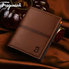 PU Leather Short Style Men Wallets - BoardwalkBuy - 12