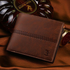 PU Leather Short Style Men Wallets - BoardwalkBuy - 2