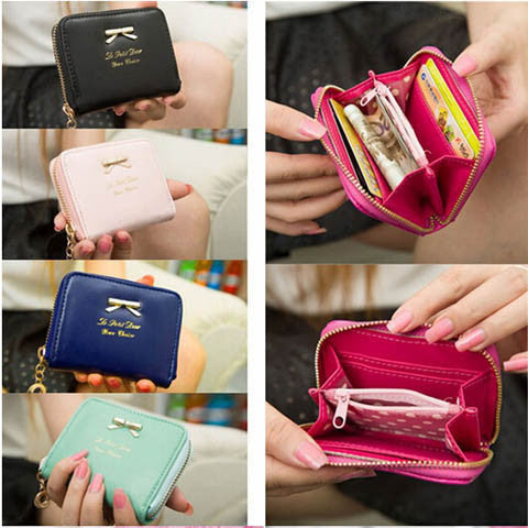 Pu Leather Zip Around Women Wallet