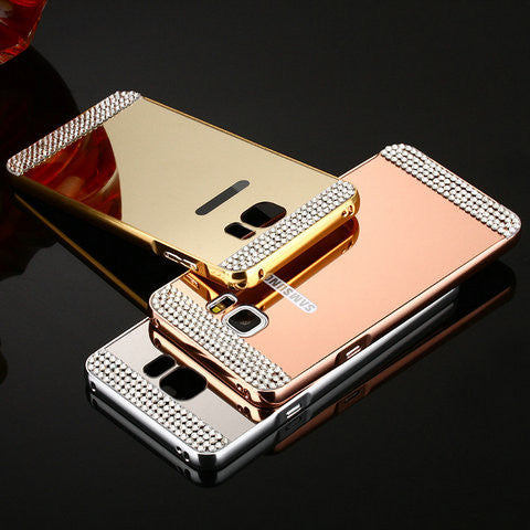 new product ad4e6 870af Bling Mirror Case For Samsung Galaxy S6 /S6 Edge /S7 /S7 Edge