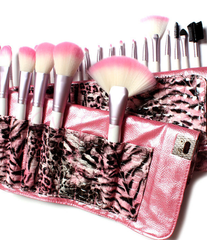 24 Piece Pink Leopard Brush Set - BoardwalkBuy - 5