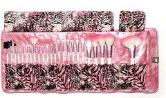 24 Piece Pink Leopard Brush Set - BoardwalkBuy - 4