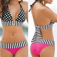 Polka Dot Sexy Women Swimwear Bikini Set - BoardwalkBuy - 1