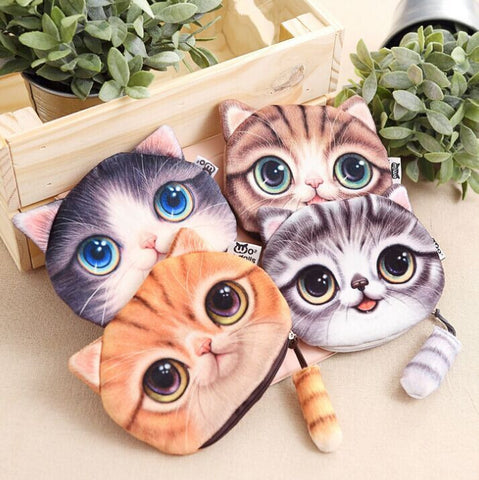 Small Tail Cat Cute Cartoon Coin Wallet