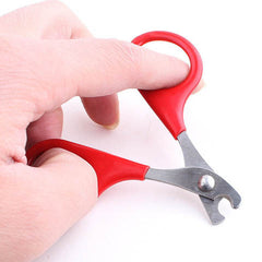 Red Pet Cat Toe Care Grooming Scissors Nail