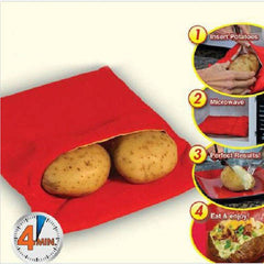 Red Microwave Cooking Potato Bag - BoardwalkBuy - 1
