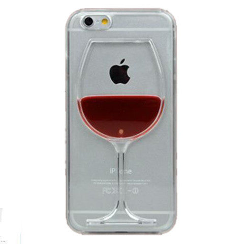 Red Wine Cup Liquid Transparent Case For Iphone