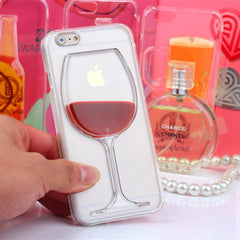 Red Wine Cup Liquid Transparent Case For iPhone - BoardwalkBuy - 2