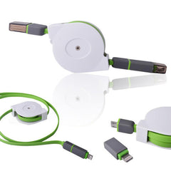 Retractable 2in1 Micro USB&Lightening Data Cable 1m - BoardwalkBuy - 7