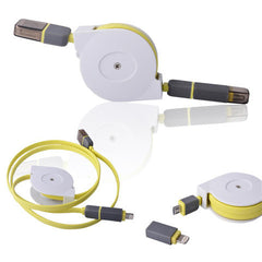 Retractable 2in1 Micro USB&Lightening Data Cable 1m - BoardwalkBuy - 2