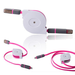 Retractable 2in1 Micro USB&Lightening Data Cable 1m - BoardwalkBuy - 9