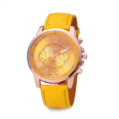 Roman Numerals Faux Leather Quartz Casual Watch - BoardwalkBuy - 6