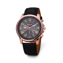 Roman Numerals Faux Leather Quartz Casual Watch - BoardwalkBuy - 7