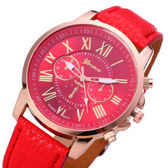 Roman Numerals Faux Leather Quartz Casual Watch - BoardwalkBuy - 11