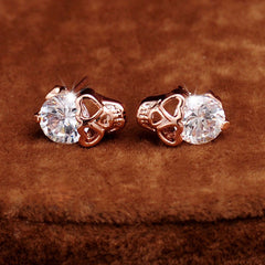 Rose Gold Skull Vintage Stud Earring - BoardwalkBuy - 2
