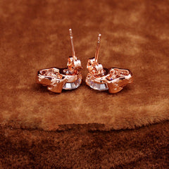 Rose Gold Skull Vintage Stud Earring - BoardwalkBuy - 3