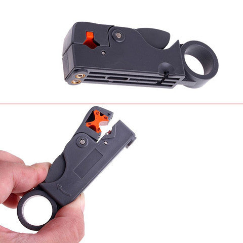 Rotary coaxial cable wire Stripper  Cutter for network tools - BoardwalkBuy - 1