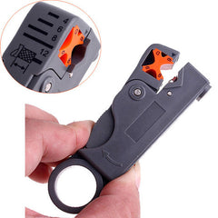 Rotary coaxial cable wire Stripper  Cutter for network tools - BoardwalkBuy - 6